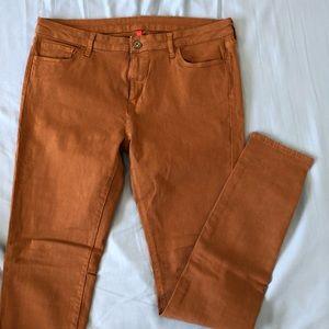 Uniqlo stretch skinny jeans camel 32x33 NWOT